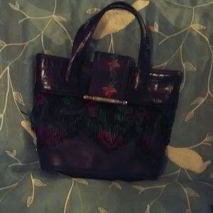 B. Collectibles 2000 Leather Embr. Fringe Handbag